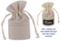Set de 4 mini-pochons en lin - Coton, lin - 10doigts.fr