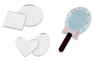 Miroirs coeur, rond, carré ou ovale - Lot de 6 - Miroirs - 10doigts.fr