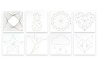 String Art - Set de 8 Modèles perforés - String Art - 10doigts.fr