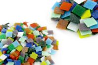Mosaïques pâte de verre multicolores - Mosaïques pâte de verre - 10doigts.fr