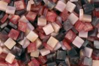 Mosaïques acrylique marbrées - Camaïeu de rouges - Mosaïques résine acrylique - 10doigts.fr
