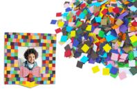 Mosaïques en carte forte - 5000 pièces - Mosaïques papiers - 10doigts.fr