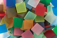 Mosaïques en résine acrylique mates aspect givré (dépoli) - Mosaïques résine acrylique - 10doigts.fr
