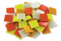 Mosaïques en pâte de verre- Camaïeu Orange - Mosaïques pâte de verre - 10doigts.fr