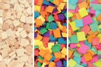 Mosaïques en bois, couleurs au choix - Set de 500 - Mosaïques bois - 10doigts.fr