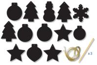 Carte à gratter Motifs de Noël - Set de 13 - Cartes à gratter - 10doigts.fr