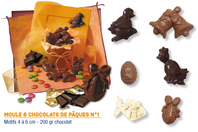Moule chocolats de Pâques n°1 - 6 motifs - Pâques - 10doigts.fr