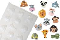 Moule 13 petits animaux - Moules - 10doigts.fr