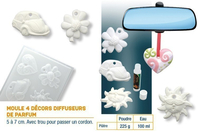 Moule diffuseurs de parfums - Set de 4 formes - Moules - 10doigts.fr