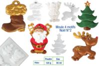 Moule 4 motifs Noël - Moules - 10doigts.fr
