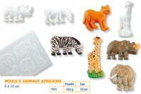 Moule 5 animaux africains réalistes - Moules - 10doigts.fr