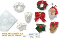 Moule thème Noël - 5 motifs - Moules - 10doigts.fr