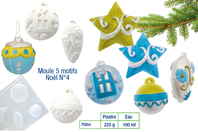 Moule suspensions de Noël - 5 motifs - Moules - 10doigts.fr