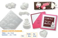 Moule thème Mariage - 6 motifs - Moules - 10doigts.fr