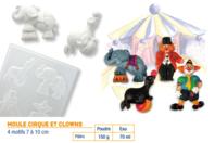 Moule Cirque et clowns - Moules - 10doigts.fr