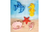 Moule poissons et coquillages - 6 motifs - Moules - 10doigts.fr