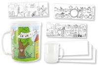 Mug à décorer - Transparent - 10doigts.fr