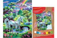 Tableau peinture au Numéro - Licorne - Peinture par numéros - 10doigts.fr