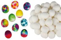 Oeufs en cellulose blanche - 50 pièces - Oeufs - 10doigts.fr