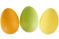 Oeufs en plastique couleurs - Plastique Opaque - 10doigts.fr