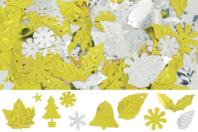 Paillettes de Noël or et argent, formes assorties - Set d'environ 1000 - Paillettes fantaisie - 10doigts.fr