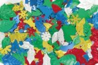 Paillettes de Noël or, argent, rouge, vert et bleu, formes assorties - Paillettes fantaisie - 10doigts.fr