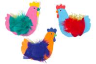 Corbeilles poules - Set de 6 - Kits activités Pâques - 10doigts.fr