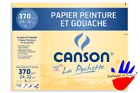 Papier Canson pour peinture - 6 feuilles - Blocs et carnets - 10doigts.fr