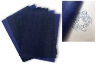 Papier carbone bleu format A4 - 10 feuilles - Papier carbone - 10doigts.fr