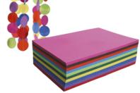 Papiers colorés 32.5 x 50 cm - 60 feuilles - Papiers couleurs - 10doigts.fr