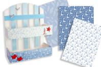 Papiers à encoller camaieu bleu - 3 feuilles - Papiers à vernis-coller - 10doigts.fr