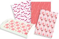 Papiers à encoller camaieu rose - 3 feuilles - Papiers à vernis-coller - 10doigts.fr