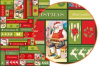 Décopatch N°725 - Set de 3 feuilles - Papiers de fêtes - 10doigts.fr
