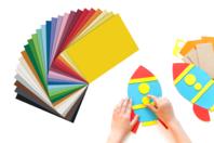 Papiers épais teintés (300 gr) Format A4 - Couleurs au choix - Papiers Format A4 - 10doigts.fr