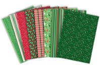 Papier glacé motifs de Noël - 96 feuilles - Papiers de fêtes - 10doigts.fr