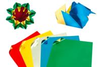 Papier Origami métallisé, format carré - 50 feuilles - Papier effet métallisé, pailleté, nacré - 10doigts.fr