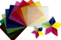 Papiers translucides pour Origami - 500 feuilles - Origami - 10doigts.fr