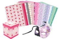 Maxi pack papiers à vernis-coller - 24 feuilles - Papiers à vernis-coller - 10doigts.fr