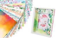 """Papiers à motifs """"Aquarelle"""" - 20 feuilles - Papiers motifs fleurs et nature - 10doigts.fr"""