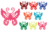 Stickers papillons en feutrine adhésive - Formes en Feutrine Autocollante - 10doigts.fr