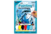 Peinture numero  - Le dauphin - Peinture par numéros - 10doigts.fr