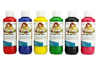 Peinture textile 10 DOIGTS - Set de 6 flacons 250 ml - Peintures pour Tissu - 10doigts.fr