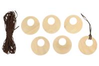 Colliers pendentif en bois - Lot de 6 - Kits bijoux - 10doigts.fr