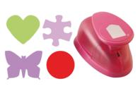 Perforatrices Jumbo à levier (découpe : 5 à 5,5 cm) - Perforatrices fantaisies - 10doigts.fr