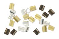 Perles tubes à écraser - Perles à écraser - 10doigts.fr