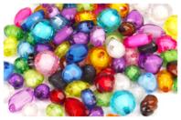 Perles à facettes en acrylique - Set de 100 - Perles acrylique - 10doigts.fr