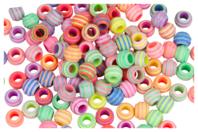 Perles abeilles couleurs pastel - Set de 100 - Perles acrylique - 10doigts.fr