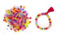 Perles toupies transparentes en acrylique - Set de 275 - Perles acrylique - 10doigts.fr