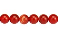 Perles Agate rouge - set de 48 - Perles Lithothérapie - 10doigts.fr