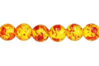 Perles Ambre - Set de 48 - Perles Lithothérapie - 10doigts.fr